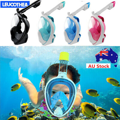 AU28.74 • Buy Kids Full Face Diving Seaview Snorkel Snorkeling Mask Scuba Goggles For Gopro AU