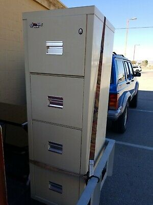 Fire King ~ Four Drawer Office Filing Cabinet ~ 2 Keys ~ Used • 275$