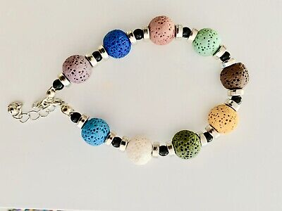 AU15 • Buy Lava Stone Natural Oil Diffuser Bracelet Aromatherapy 1pc