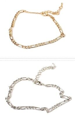 AU5.99 • Buy Anklet Chain / Bracelet For Women Girls  Gold Or Silver Chain Beach Summer 81