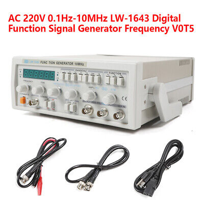 LW1643 0.1HZ~10Mhz Digital Function Signal Generator Counter Cable Kit US STOCK • 139.04$