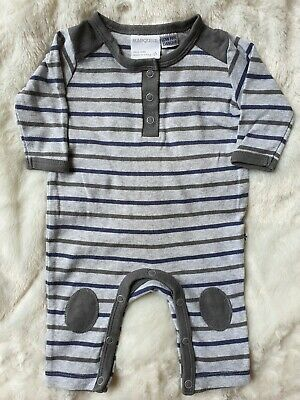 AU8 • Buy 0-3 Months Marquise Boys Footless Romper Size 000 Grey Stripes EUC