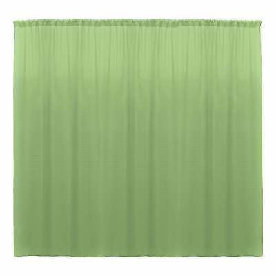 $44.12 • Buy 10 X 10 Ft - Sage - Curtain Polyester Backdrop Drapes Panels With Rod Pocket