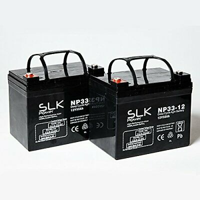 £42.41 • Buy  PAIR 12v SLK DEEP CYCLE AGM & GEL BATTERY FOR NEW & USED MOBILITY SCOOTER