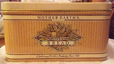 $39.99 • Buy Tin BREAD BOX MOTHER EARTHS 13.5  Metal CONTAINER Lid Storage Retro Vintage