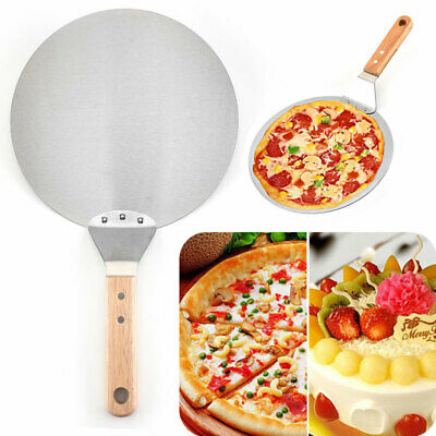 Stainless Steel Round Pizza Peel 10inch Pizza Paddle Cake Lifter Transfer Tray • 11.77£