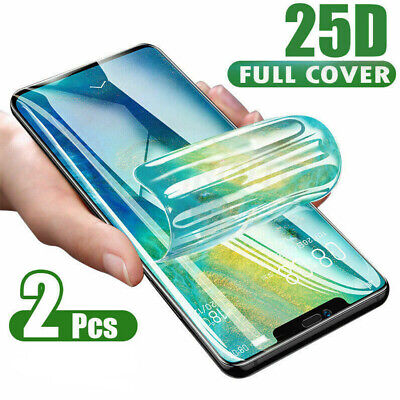 2× For IPhone 11 Pro XS MAX 7 8 PLUS Hydrogel Protective Film Screen Protector • 2.99£