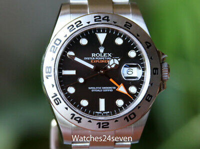 $ CDN10789.79 • Buy Rolex Explorer II Black Dial Orange Hand Steel 42mm Ref. 216570 W BOX & Papers