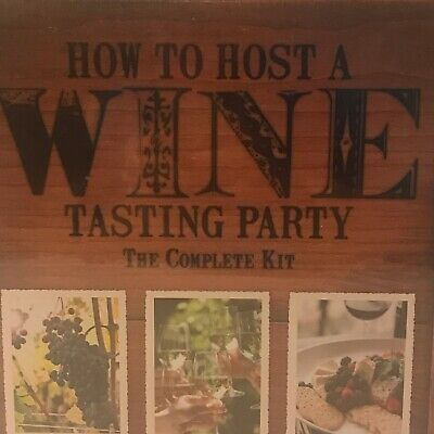 New How To Host A Wine Tasting Party Complete Kit Sealed Gift Wineglass Markers • 22.30$