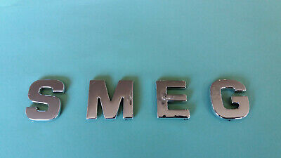 £4.75 • Buy CHROME / SILVER SMEG LETTERS / WORD, SELF ADHESIVE, 27mm TALL