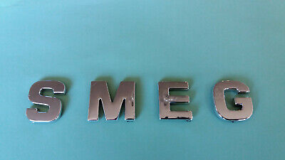 Chrome / Silver Smeg Letters / Word, Self Adhesive, Good Quality • 4.95£
