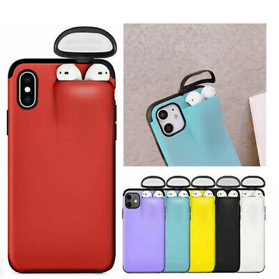 $ CDN6.56 • Buy 2 In 1 Phone Cover+Airpods Storage Case For IPhone 11 Pro Max XS XR X 8 7 6 Plus