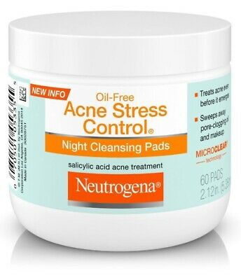 Neutrogena Oil-Free Acne Stress Control Night Cleansing Pads 60 Count  • 34.99$