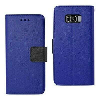 $ CDN11.58 • Buy For Samsung Galaxy S8 Case Leather Wallet Magnetic Flip Card Holder Cover Blue