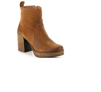 $84 • Buy MTNG New Kala Ankle Boots 40/9-9.5 Bootie Platform Suede Leather Tan Brown Spain