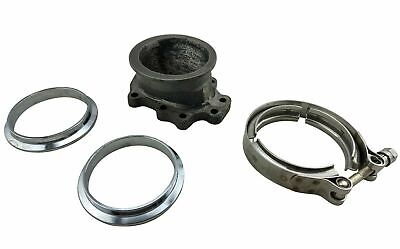 $ CDN119.95 • Buy T25 T28 GT25 GT28 5 Bolt To 3  76mm V-Band Clamp Flange Turbo Down Pipe Adapter