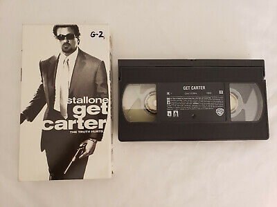 Get Carter 2000 VHS Movie VCR Sylvester Stallone, Michael Caine, Mickey Rourke • 2.15£