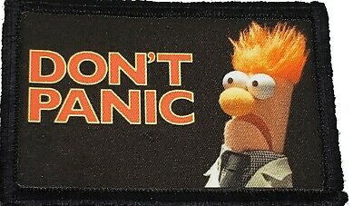 $7.99 • Buy Muppets Beaker Don't Panic Morale Patch Tactical Military Army Flag USA Badge