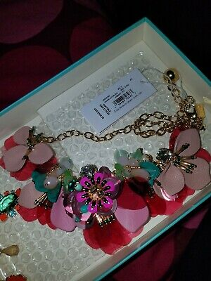 $ CDN100 • Buy BNWT Kate Spade Vibrant Life Statement Necklace Floral Pink