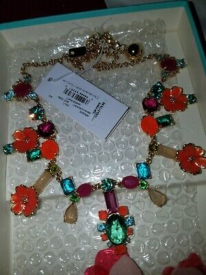 $ CDN105 • Buy BNWT Kate Spade Garden Party Necklace Statement Crystals