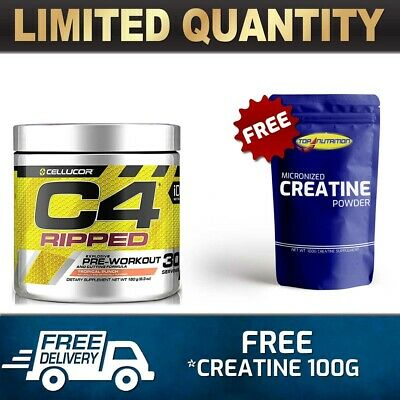 AU46.90 • Buy Cellucor C4 Id  Ripped Pre Workout  Energy Thermogenic Fat Burner 30 Serves Gift