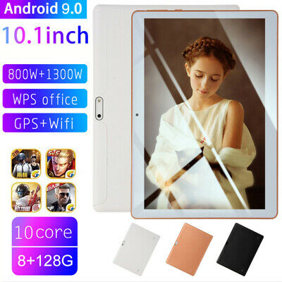 AU76.89 • Buy 10.1  10-Core Dual SIM Phablet 8G+128G Android 9.0 Tablet PC WIFI GPS Bluetooth