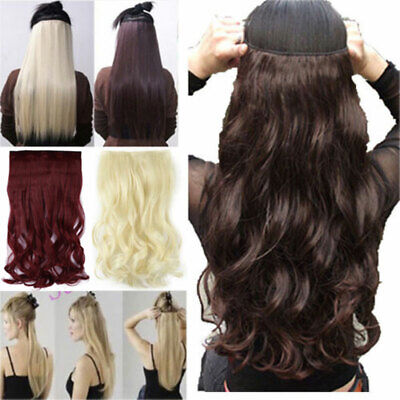 £11.95 • Buy UK One Piece Natural THICK Clip In Hair Extensions Half Full Head Long Straight