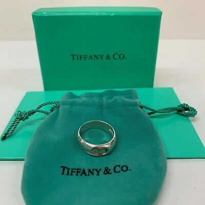 Authentic! Beautiful Silver Tiffany & Co Ring Ladies Girls Carved Heart   Size L • 89£