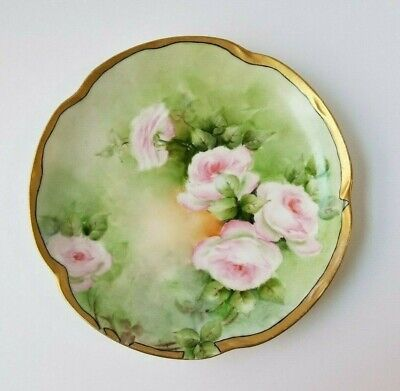 $20.99 • Buy Louise J&C Bavaria Hand Painted Roses And Gold Trim Plate