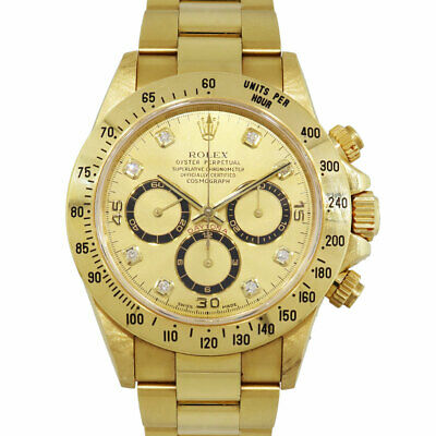 $ CDN70174.54 • Buy Rolex 16528 Daytona Zenith 18k Yellow Gold Champagne Serti Dial Watch