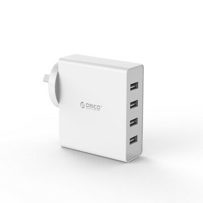 AU39.90 • Buy Orico DCW-4U 4 Port USB Wall Charger Samsung IPhone IPad HTC Mobile White AU