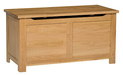 Large Oak Blanket Box | Toy Storage Trunk/Chest | Solid Wood Ottoman • 199.99£