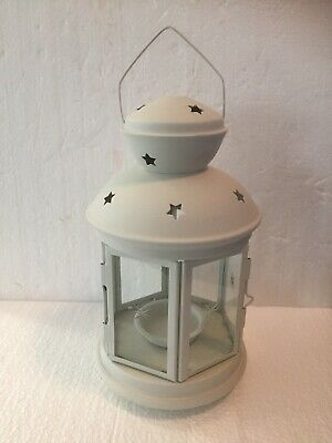 $11.99 • Buy Round Tabletop White Metal Tealight Candle Lantern 8-1/4 Inch Tall - Ikea