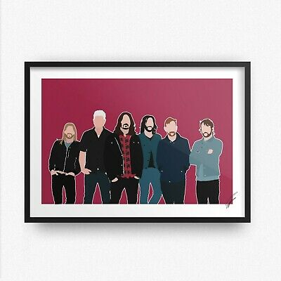 Foo Fighters INSPIRED WALL ART Print / Poster A4 A3 Dave Grohl Everlong Rock • 7.99£