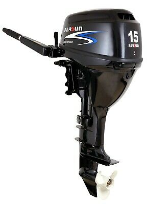 AU2595 • Buy 15HP PARSUN OUTBOARD MOTOR Short Shaft 4-Stroke Manual Start 2YR WARRANTY F15BMS