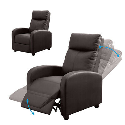 Modern Leather Recliner Armchair Lounge Chairs Upholstered Sofa Home Cinema Seat • 159.99£