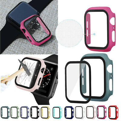 $ CDN6.89 • Buy 360° Full Bumper Case Screen Protecter Film Cover For Apple Watch Series 5/4/3/2
