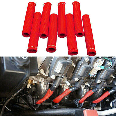 $17.99 • Buy 8pcs 2500° Spark Plug Wire Boots Protector Sleeve Heat Shield Cover For LS1/LS2
