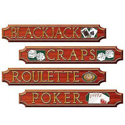 $7.99 • Buy Casino Sign Cutouts