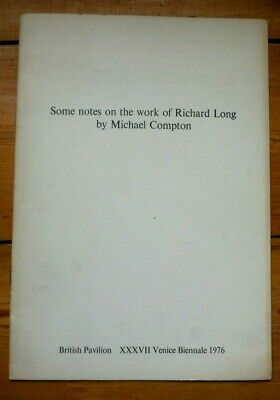 Richard Long. Some Notes They The Work Catalogue. Xxxvii Venice Biennial, 1976 • 18.69£