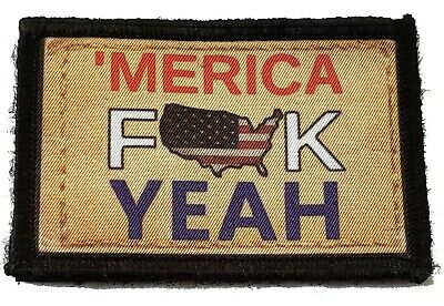 $7.99 • Buy Merica! Morale Patch Tactical Military Army USA Flag Badge Hook