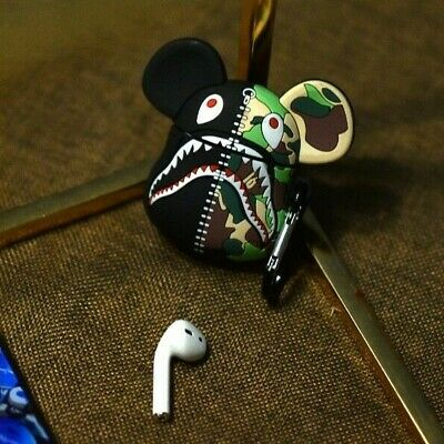 $14.99 • Buy Hypebeast Bape Bearbrick 400 Silicon Airpods Case Cover With Hook Holder