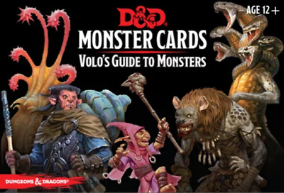 AU35.95 • Buy Dungeons & Dragons Spellbook Volos Guide To Monsters Cards NEW