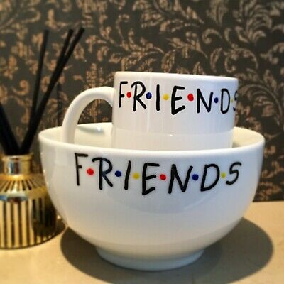 £14.99 • Buy Friends Tv Show Bowl And Mug Personalised Gift Set Fathers Day Christmas