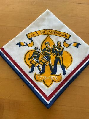 Boy Scout Neckerchief, BiCentennial Neck Scarf, 1976, New. Free Shipping • 10.96£