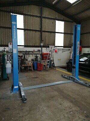 New Twin Busch 242A 4.2 Tonne 2 Post Lift, Ramp, Vehicle Lift. • 1,920£