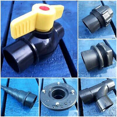 1.5 Inch 43mm Solvent Weld Pipe Fittings Koi Pond Filter Fish Various Kockney • 16.99£