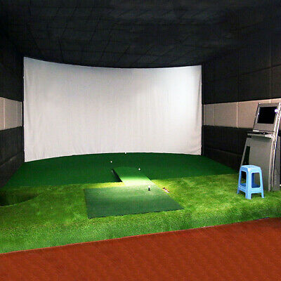 Golf Ball Simulator Impact Display Projection Screen Indoor Game 3mx2m UKFREE • 72.88£