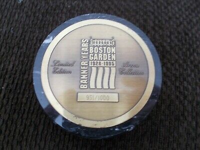 Boston Garden Banner Years Limited Edition Marble Puck 951/1000 Very Rare • 100$
