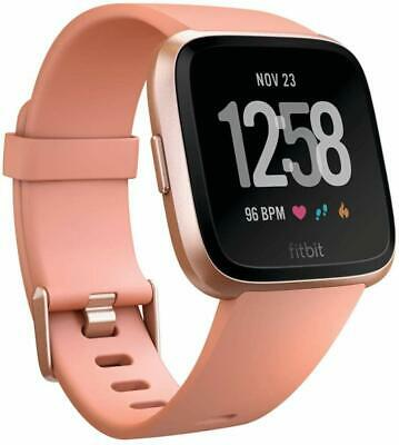 $ CDN216.89 • Buy Fitbit Versa Smart Watch One Size S&L Bands Wristband NEW SEALED ROSEGOLD/BLACK